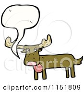 Cartoon Of A Talking Moose Royalty Free Vector Illustration by lineartestpilot