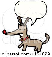 Cartoon Of A Talking Christmas Reindeer Royalty Free Vector Illustration