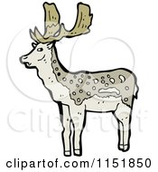 Cartoon Of A Buck Deer Royalty Free Vector Illustration by lineartestpilot