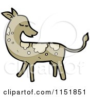 Cartoon Of A Spotted Deer Royalty Free Vector Illustration by lineartestpilot