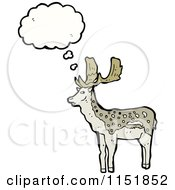 Cartoon Of A Thinking Buck Deer Royalty Free Vector Illustration by lineartestpilot