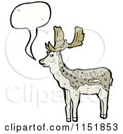 Cartoon Of A Talking Buck Deer Royalty Free Vector Illustration by lineartestpilot