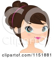 Clipart Of A Young Brunette Woman Royalty Free Vector Illustration