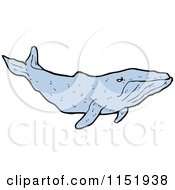 Cartoon Of A Whale Royalty Free Vector Illustration by lineartestpilot