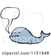 Cartoon Of A Talking Whale Royalty Free Vector Illustration