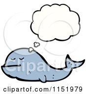 Cartoon Of A Thinking Whale Royalty Free Vector Illustration