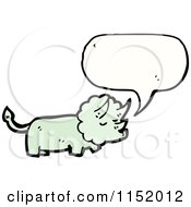 Cartoon Of A Talking Triceratops Royalty Free Vector Illustration by lineartestpilot