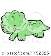 Cartoon Of A Triceratops Royalty Free Vector Illustration by lineartestpilot
