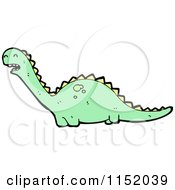Cartoon Of A Dinosaur Royalty Free Vector Illustration by lineartestpilot