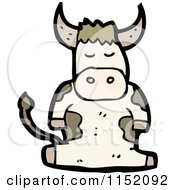 Cartoon Of A Cow Royalty Free Vector Illustration by lineartestpilot