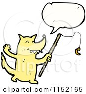 Cartoon Of A Talking Wolf Royalty Free Vector Illustration by lineartestpilot