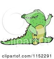 Cartoon Of A Crocodile Royalty Free Vector Illustration