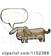 Cartoon Of A Talking Dachshund Dog Royalty Free Vector Illustration