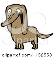 Cartoon Of A Dachshund Dog Royalty Free Vector Illustration by lineartestpilot