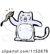 Cartoon Of A Cat Holding A Mouse Royalty Free Vector Illustration