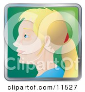 People Internet Messenger Avatar Of A Blond Woman With Her Hair In A Pony Tail