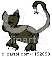 Cartoon Of A Black Panther Cat Royalty Free Vector Illustration