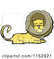 Cartoon Of A Male Lion Royalty Free Vector Illustration by lineartestpilot
