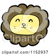 Cartoon Of A Male Lion Face Royalty Free Vector Illustration