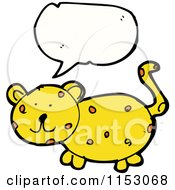 Cartoon Of A Talking Cheetah Cat Royalty Free Vector Illustration