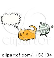 Cartoon Of A Talking Cat Royalty Free Vector Illustration by lineartestpilot