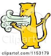 Cartoon Of A Ginger Cat Puking Royalty Free Vector Illustration