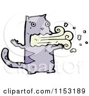 Cartoon Of A Cat Puking Royalty Free Vector Illustration