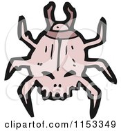 Cartoon Of A Scarab Beetle Royalty Free Vector Illustration by lineartestpilot