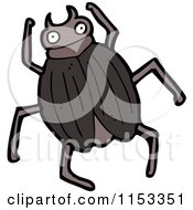 Cartoon Of A Beetle Royalty Free Vector Illustration by lineartestpilot