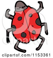 Cartoon Of A Ladybug Royalty Free Vector Illustration by lineartestpilot