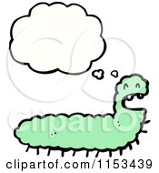 Cartoon Of A Thinking Caterpillar Royalty Free Vector Illustration