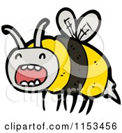 Cartoon Of A Bee Royalty Free Vector Illustration by lineartestpilot