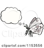 Cartoon Of A Moth Thinking Royalty Free Vector Illustration by lineartestpilot