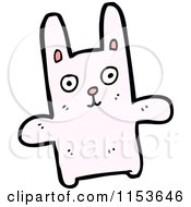 Cartoon Of A Pink Rabbit Royalty Free Vector Illustration by lineartestpilot
