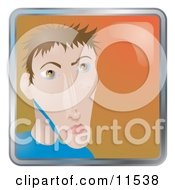 People Internet Messenger Avatar Of A Young Skinny Man Clipart Illustration by AtStockIllustration