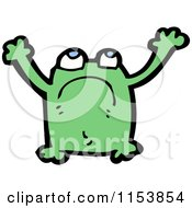 Cartoon Of A Frog Royalty Free Vector Illustration by lineartestpilot
