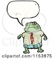 Cartoon Of A Talking Frog Royalty Free Vector Illustration