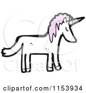 Cartoon Of A Unicorn Royalty Free Vector Illustration by lineartestpilot