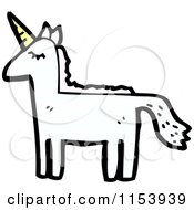 Cartoon Of A Unicorn Royalty Free Vector Illustration