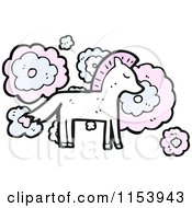 White And Pink Horse