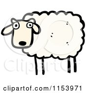 Cartoon Of A Sheep Royalty Free Vector Illustration by lineartestpilot