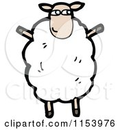 Cartoon Of A Sheep Standing Upright Royalty Free Vector Illustration by lineartestpilot