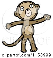 Cartoon Of A Monkey Royalty Free Vector Illustration by lineartestpilot