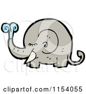 Cartoon Of A Squirting Elephant Royalty Free Vector Illustration