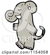 Cartoon Of An Elephant Royalty Free Vector Illustration