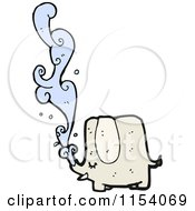 Cartoon Of A Squirting Elephant Royalty Free Vector Illustration by lineartestpilot