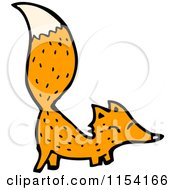 Cartoon Of A Fox Royalty Free Vector Illustration