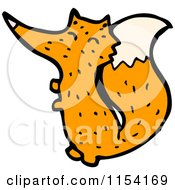 Cartoon Of A Fox Royalty Free Vector Illustration by lineartestpilot