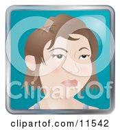 People Internet Messenger Avatar Of A Stylish Young Woman With Short Hair