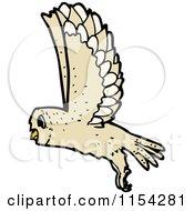 Cartoon Of A Flying Owl Royalty Free Vector Illustration